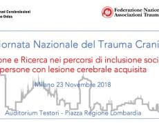 """Convegno Nazionale –  Milano, 23 Novembre -""""Innovazione e ricerca nei percorsi di inclusione sociale di persone con cerebrolesione acquisita"""""""